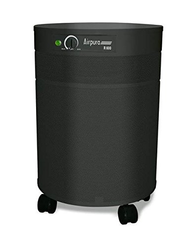 Air Purifier w True HEPA Filter in Black