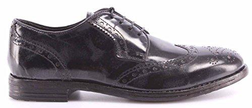 Zapatos Hombre MOMA 52606-L1 Splendid Grigio Gris Vintage Cuero Made Italy Nuevo