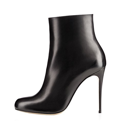 clearance store buy cheap countdown package VOCOSI Women's Round Toe Ankle Boots Stilettos High Heels Classic Dress Booties Black(022/Matte) y0pNPNgg