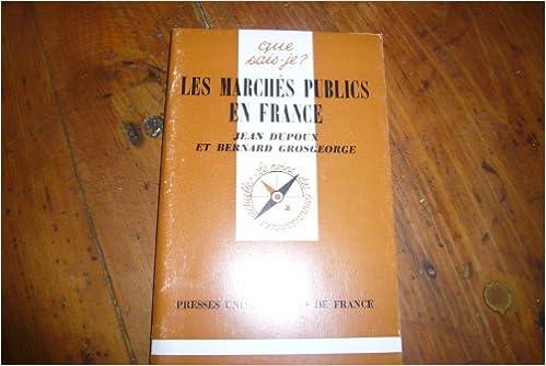 Livre gratuits en ligne Les marchés publics en France pdf epub