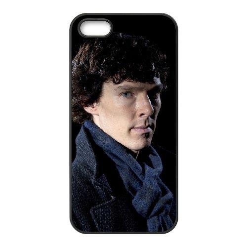 Benedict Cumberbatch 023 coque iPhone 5 5S cellulaire cas coque de téléphone cas téléphone cellulaire noir couvercle EOKXLLNCD22165