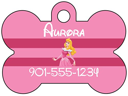 Disney Princess Aurora Dog Tag Pet Id Tag Personalized w/ Your Pet's Name & Number