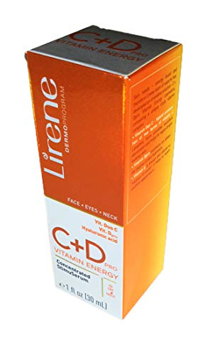 Lirene C + D pro VITAMIN ENERGY. Concentrated StimuSerum. Day/Night. Face, Eyes, Neck. 1 FL OZ