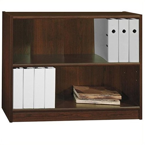 ioneyes and co 2 shelf wood bookcase in vogue cherry