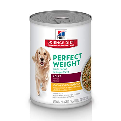 Hill's Science Diet Canned Dog Food, Adult, Perfect Weight Hearty Vegetable & Chicken Stew, 12.5 oz, 12-pack