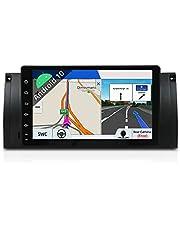 Android 9 Single Din Samochodowy Stereo Samochodowy DVD Nawigacja GPS Radioodtwarzacz do BMW 5 E39   M5   Ekran dotykowy 2G 32G   Obsługa Wi-Fi 4G Bluetooth Kierownica Google DAB+ OBD Free Backup Camera & Canbus