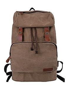 2389b8a24dfd4 Douguyan Unisex Erwachsene Canvas Daypack Männer Uni Rucksäcke Damen ...