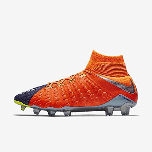 Nike Hombres Hypervenom Phantom Iii Dynamic Fit Fg Deep Royal Azul / Cromo / Total Crimson Zapatos