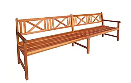 Garden Bench Solid Acacia Wood Garden Outdoor Natural Comfortable Backrest  Solid Acacia Wood With A Natural