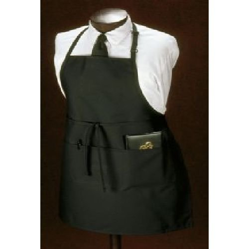 Bib Apron, Chef Hunter Green, Three Pocket - 12 Count