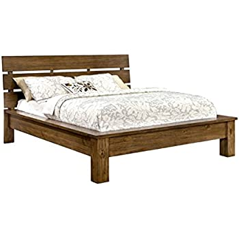 Furniture of America Kendall California King Platform Bed in Pine Wood