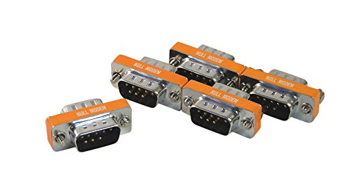 5 Pack of Your Cable Store 9 Pin Serial Port (DB9) Null Modem Gender Changers Male / Male