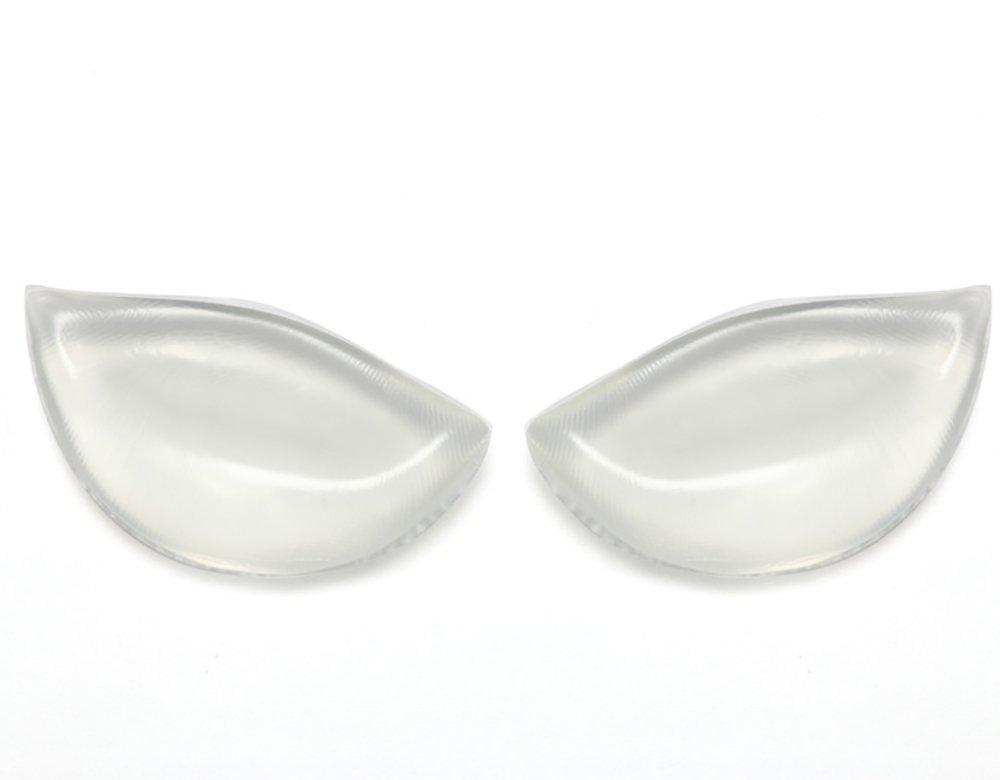180g/Paar - LanMing - Große Silikon Brust Einlagen+Brustaufkleber Brust - Hautfarbe oder Transparent - Körbchengröße A bis D (Chair)