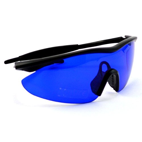 POSMA SGG-010 Golf Ball Finder Locating Glasses Hunter Retriever Glasses Sports Sunglasses Special Tinted Lens w/Case -