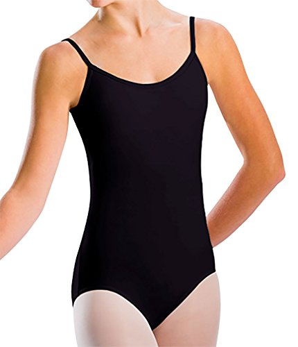 Motionwear Classic Camisole Leotard, Black, Large (Supplex Camisole)