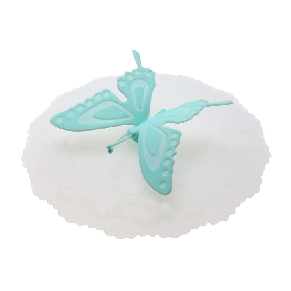 Butterfly Silicone Leakproof Coffee Suction Lid Cap Airtight Seal Cup Cover