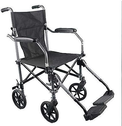 HYY-YY Silla de Ruedas Silla de Ruedas Plegable Ultra Ligero de aleación de Aluminio Ligero portátil de sillas de Ruedas Old Viaje Hombre Carro Viajes