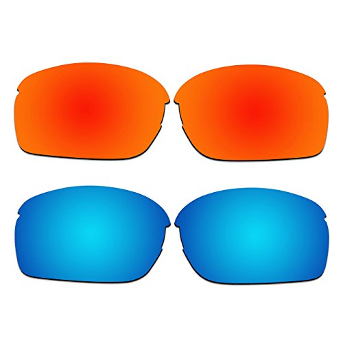 2 Pair ACOMPATIBLE Replacement Polarized Lenses for Oakley RPM Squared Sunglasses OO9205 Pack - Sunglasses R P