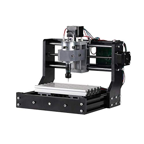 (Genmitsu CNC Router Kit 1810-PRO GRBL Control 3 Axis Plastic Acrylic PCB PVC Wood Carving Milling Engraving Machine, XYZ Working Area 180 x 100 x)