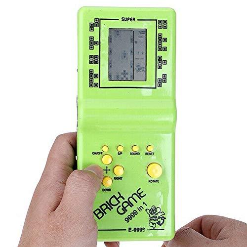 Jiad Kde Classic Nostalgic Tetris Brick Handheld LCD Video Games Toy Machine Arcade Mini Games Console Retro Games Consoles