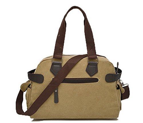 VogueZone009 Décontractée Brun Mode Zippers CCAFBP180880 Femme Toile Des Sacs sacs bandoulière à FqrFAawpx