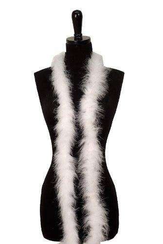 WeGlow International WGI 6' Adult Marabou Feather Boa - (2 boas), White