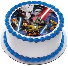 Tremendous Amazon Com Star Wars Rebel Edible Icing Image Cake Topper Funny Birthday Cards Online Overcheapnameinfo