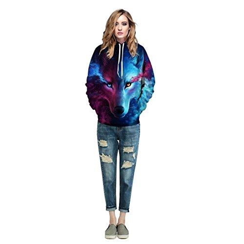 Accogliente Stampa Unisex nbsp; 4 Con Hoodie Felpa Streetwear Autunno Moda Qualità Chic Manica Primaverile 3d Elegante Alta Sweatshirt Colour Di Cappuccio Casual Lunga Animalier Ragazza Swag qzC5EC4Tw