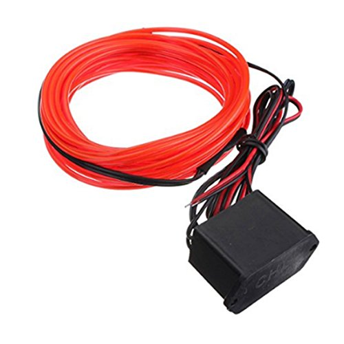 TOOGOO 2M EL Cable DC 12V Flexible Neon Lights for Christmas Parties Rave Parties Halloween Costumes Retail Shop Display -
