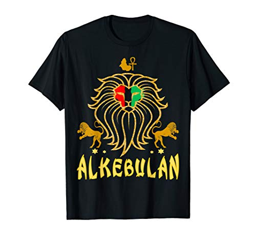 AFRICAN LION RBG ANKH  KEMETIC Clothing T Shirt Tee