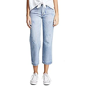 Blank Denim Women's Cropped Straight Leg Jeans