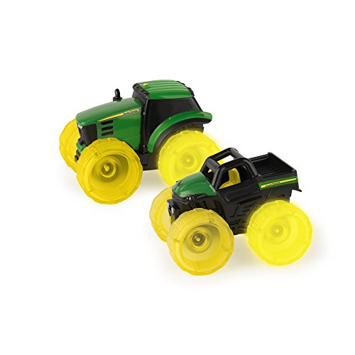 TOMY John Deere Monster Treads Lightning Wheels Mini Vehi...