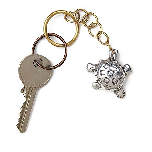Turtle, keychains, charm, Live animals, rings, gift, Metal key, accessories, -