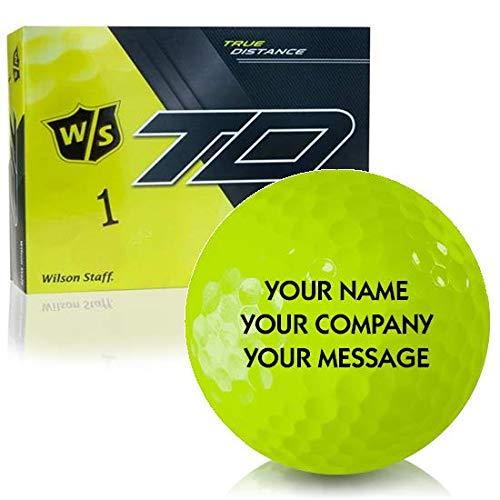 ウィルソンスタッフTrue距離ソフトイエローPersonalizedゴルフボール B071X991W8