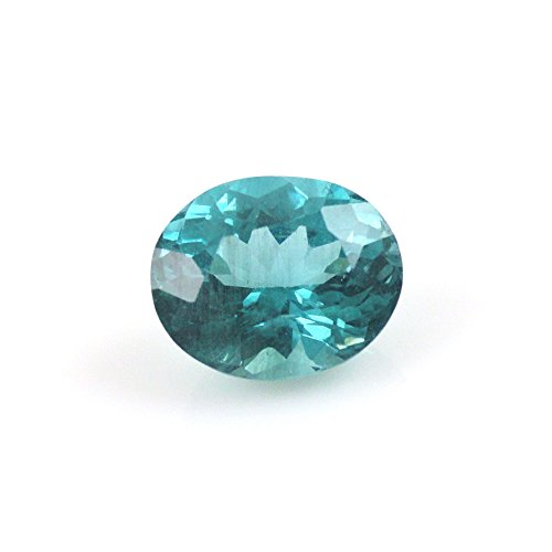 Paraiba Apatite Oval 9x8mm Single Piece Approximately 2.78 Carat Beautiful Color Nice Luster (13910)