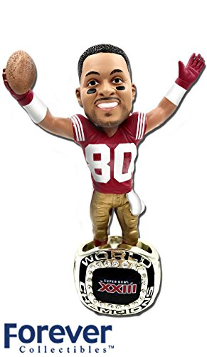 Base Bobble Head - Jerry Rice (San Francisco 49ers) 1988 Super Bowl Championship Ring Base NFL Bobblehead Exclusive #/750