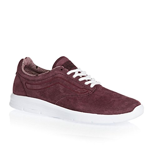 5620db8e558149 Galleon - Vans Iso 1.5 Youth 5.5 Womens 7 Tweed Dots Burgundy True White  Skateboarding Shoes