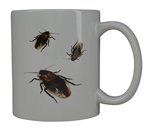 Funny Gross Coffee Mug Cockroach Joke Roaches Novelty Cup Great Gag Gift Idea For Men Women Office Party Employee Boss Coworkers]()