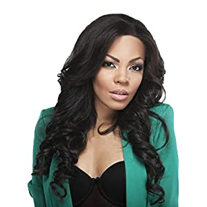 Sexy Girl Hair Human Full Lace Wig Brazilian Remy Human Silky Straight Hair Lace Wigs with Baby Hair For African Americans 150% Density Natural Black (#1b) 18inch