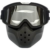 HCMAX Motocicleta Gafas de Protección Con Máscara Facial