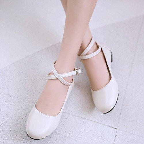 Zapatos Zanpa Mujer 1 Plano white Dulce 0qwzZFTx