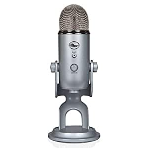 Blue Microphones Yeti - Micrófono para ordenador (USB, 16-bit, 48 KHz, 16 ohms, 20 Hz - 20 kHz), Plateado