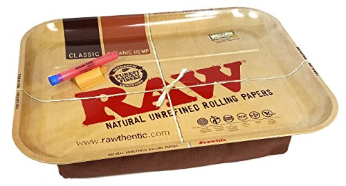 RAW Huge Beanbag XXL Rolling Tray with Rolling Paper Depot XL Doobtube by RAW, Rolling Paper Depot (Image #2)