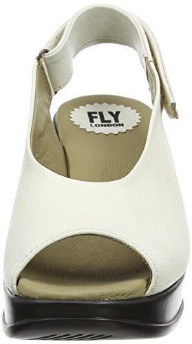 Offwhite London Fly Cuña de Sandalias Mujer 003 Marfil P143889001 1nUnW7