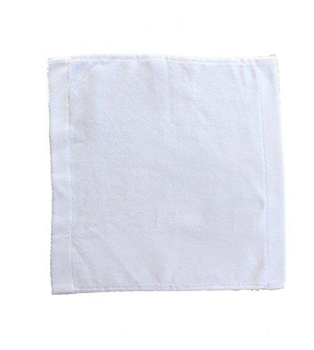 - Velour Cotton WashCloth Towels, White, Set of 12