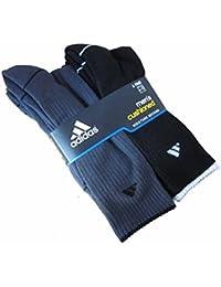 Men's Athletic Crew Socks (6-Pack) (Black/Charcoal (Striped Cuff))