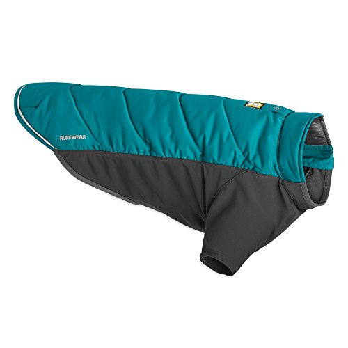 Grace Insulated Jacket (Ruffwear - Powder Hound Hybrid Insulation Jacket for Dogs, Baja Blue, Small)