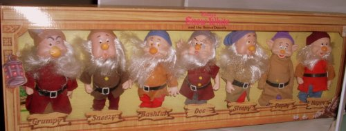 Disney's Snow White Seven Dwarfs Fully Jointed Figures by Bikin USA (7 Dwarfs Costume)