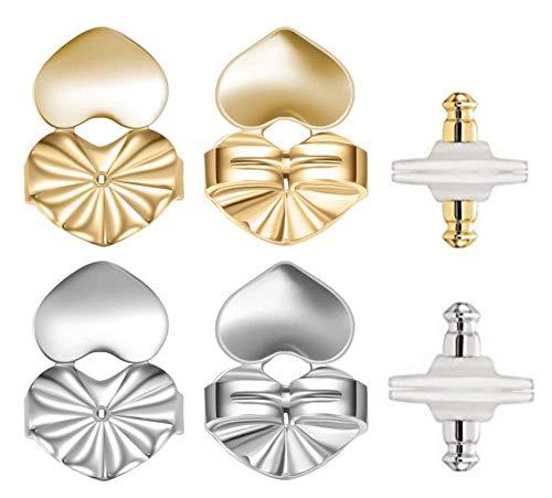 AmzonBasics - Original Magic Earring Lifters ❤ 3 Pairs of Adjustable Earring Lifts + Bonus 3 Pairs Earring Backs (Earring Lifters 3 + 3 Backs Color 1) (3 Earring Lifters +3 Earring Backs Color 1)