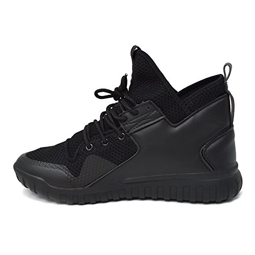 Mens Top Lace Basketball Black Get Mesh Fit Boots Xelay Hi 11 UK Up Trainers 6 Sports Running Size Shoes Ankle dnFxCCU4qw